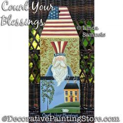 Count Your Blessings Americana Pelt Board Painting Pattern PDF Download - Linda Samuels