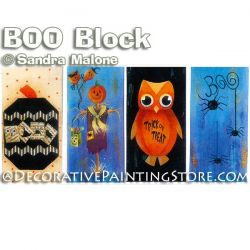 BOO Block e-Pattern -Sandra Malone - PDF DOWNLOAD