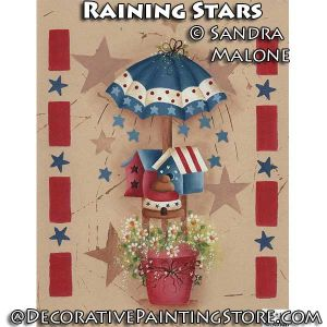 Raining Stars e-Pattern -Sandra Malone - PDF DOWNLOAD