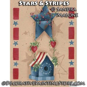 Stars and Stripes e-Pattern -Sandra Malone - PDF DOWNLOAD