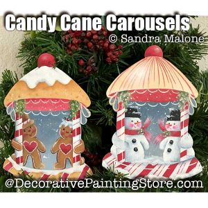 Candy Cane Carousel e-Pattern -Sandra Malone - PDF DOWNLOAD