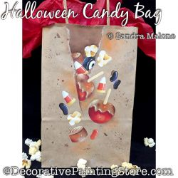 Halloween Candy Bag DOWNLOAD Painting Pattern -Sandra Malone
