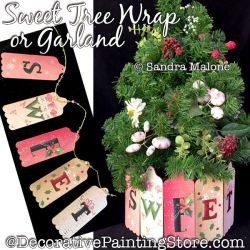 Sweet Tree Wrap or Garland Painting Pattern PDF DOWNLOAD -Sandra Malone