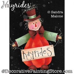 Hayrides (Scarecrow) Painting Pattern PDF DOWNLOAD -Sandra Malone