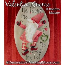 Valentine Gnome Painting Pattern PDF DOWNLOAD -Sandra Malone