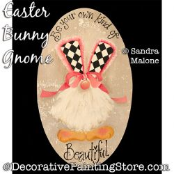 Easter Bunny Gnome Painting Pattern PDF DOWNLOAD -Sandra Malone