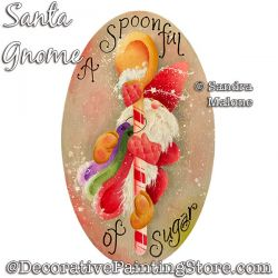 Santa Gnome Painting Pattern PDF DOWNLOAD -Sandra Malone