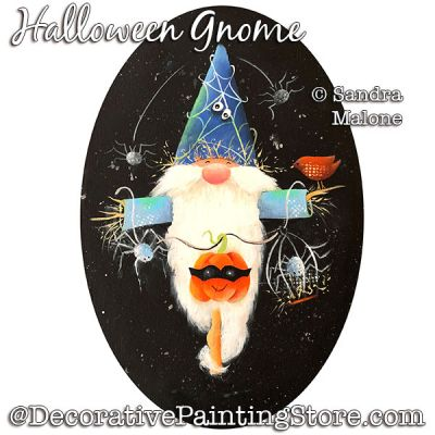 Halloween Gnome Painting Pattern PDF DOWNLOAD -Sandra Malone