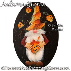 Autumn Gnome Painting Pattern PDF DOWNLOAD -Sandra Malone