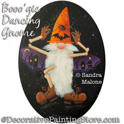 Booo-gie Dancing Gnome Painting Pattern PDF DOWNLOAD -Sandra Malone