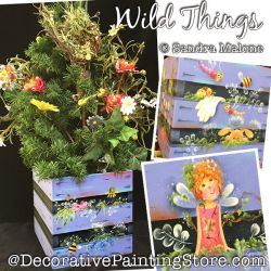 Wild Things Garden Crate Tree Box Painting Pattern PDF DOWNLOAD -Sandra Malone