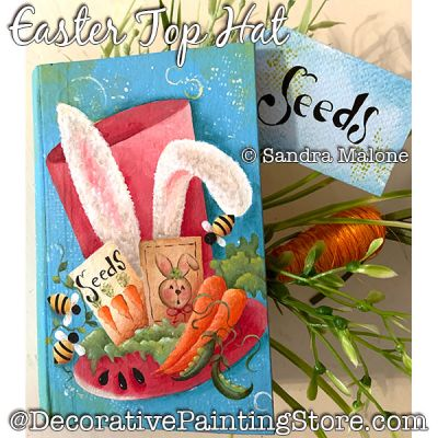 Easter Top Hat Painting Pattern PDF DOWNLOAD -Sandra Malone
