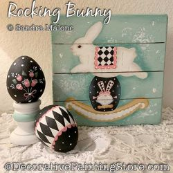 Rocking Bunny Painting Pattern PDF DOWNLOAD -Sandra Malone