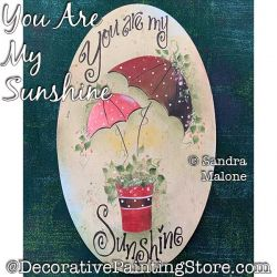 You Are My Sunshine Painting Pattern PDF DOWNLOAD -Sandra Malone