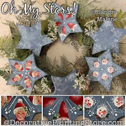 Oh My Stars Painting Pattern PDF DOWNLOAD -Sandra Malone