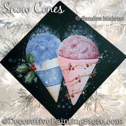 Snow Cones Painting Pattern PDF DOWNLOAD -Sandra Malone