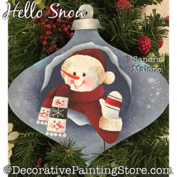 Hello Snow Painting Pattern PDF DOWNLOAD -Sandra Malone