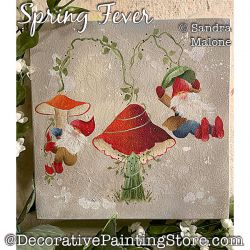 Spring Fever (Gnomes) Painting Pattern PDF DOWNLOAD -Sandra Malone