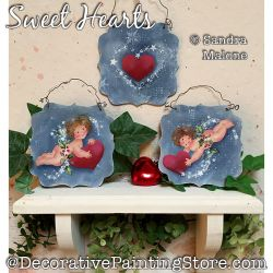 Sweet Hearts (Cupids) Painting Pattern PDF DOWNLOAD -Sandra Malone