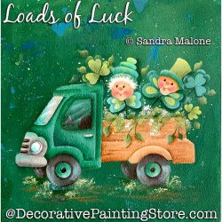 Loads of Luck (Leprechauns) Painting Pattern PDF DOWNLOAD -Sandra Malone