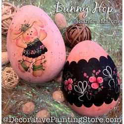 Bunny Hop Painting Pattern PDF DOWNLOAD -Sandra Malone