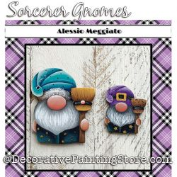 Sorcerer Gnomes Brooch and Ornament Painting Pattern PDF DOWNLOAD - Alessio Meggiato