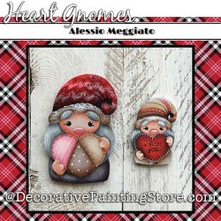 Heart Gnomes (G) Brooch and Ornament Painting Pattern PDF DOWNLOAD - Alessio Meggiato