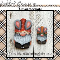 Rabbit Gnomes (H) Brooch and Ornament Painting Pattern PDF DOWNLOAD - Alessio Meggiato