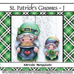 St Patricks Gnomes (J) Brooch and Ornament Painting Pattern PDF DOWNLOAD - Alessio Meggiato