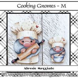 Cooking Gnomes (M) Brooch and Ornament Painting Pattern PDF DOWNLOAD - Alessio Meggiato