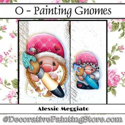 Painting Gnome (O) Brooch and Ornament Painting Pattern PDF DOWNLOAD - Alessio Meggiato