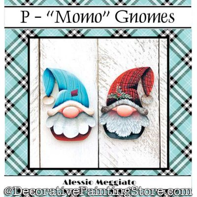 Momo Gnome (P) Brooch and Ornament Painting Pattern PDF DOWNLOAD - Alessio Meggiato