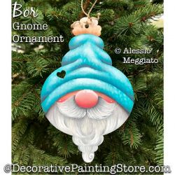 Bor Gnome Ornament or Broach Painting Pattern PDF DOWNLOAD - Alessio Meggiato