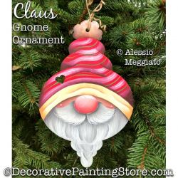 Claus Gnome Ornament or Broach Painting Pattern PDF DOWNLOAD - Alessio Meggiato