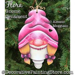 Flora Gnome Ornament or Broach Painting Pattern PDF DOWNLOAD - Alessio Meggiato