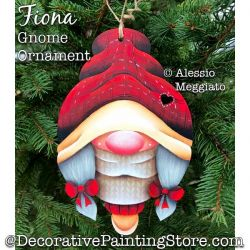Fiona Gnome Ornament or Broach Painting Pattern PDF DOWNLOAD - Alessio Meggiato