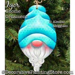 Igor Gnome Ornament or Broach Painting Pattern PDF DOWNLOAD - Alessio Meggiato