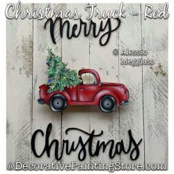 Christmas Truck - Red Painting Pattern PDF DOWNLOAD - Alessio Meggiato