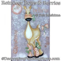Reindeer Bows and Berries DOWNLOAD - Deb Mishima