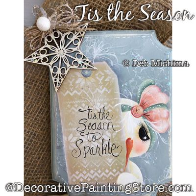 Tis the Season to Sparkle (Snowman) DOWNLOAD - Deb Mishima