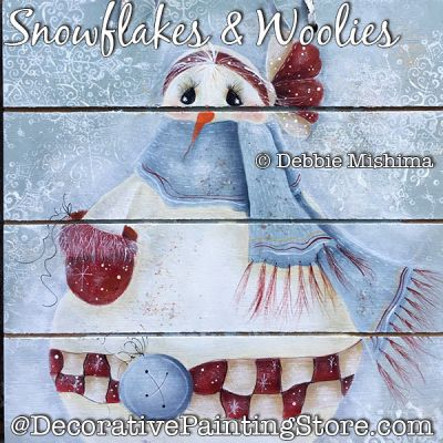 Snowflakes and Woolies (Snowman) DOWNLOAD - Deb Mishima