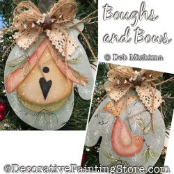 Boughs and Bows (Birdhouse - Red Bird) DOWNLOAD - Deb Mishima