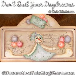 Dont Quit Your Daydreams (Snow Girl) Painting Pattern DOWNLOAD - Deb Mishima