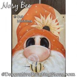 Nosy Bee (Gnome) Painting Pattern PDF DOWNLOAD - Deb Mishima