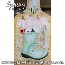 Spring (Rain boots and flowers) Painting Pattern PDF DOWNLOAD - Deb Mishima