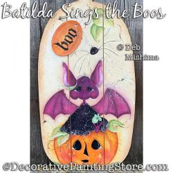 Batilda Sings the Boos Painting Pattern PDF DOWNLOAD - Deb Mishima