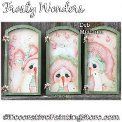 Frosty Wonders (Snowman) Painting Pattern PDF DOWNLOAD - Deb Mishima