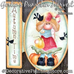 Gerties Pumpkin Harvest (Gnome) Painting Pattern PDF DOWNLOAD - Deb Mishima