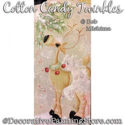 Cotton Candy Twinkles (Reindeer) Painting Pattern PDF DOWNLOAD - Deb Mishima