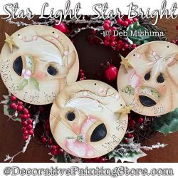 Star Light Star Bright (Reindeer) Painting Pattern PDF DOWNLOAD - Deb Mishima